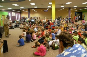 Storytelling isn't just for the young. Your undergraduates may appreciate it (almost) as much as this crowd.